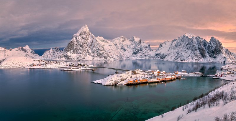 sea, norway, winter, snow, ice, scandinavia Lofotenphoto preview