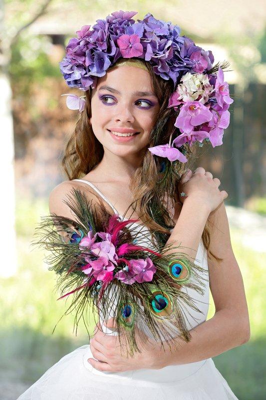 портрет, флористика, цветы Закатphoto preview