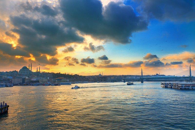 Стамбул, Турция, закат, путешествия Let it snow...photo preview