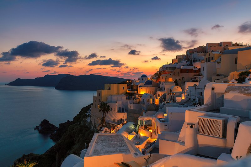 Santoriniб island, Greece, sunset, night Вечер на Санториниphoto preview
