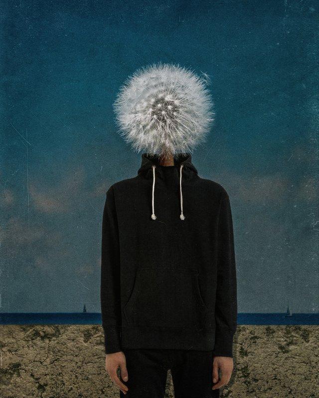 conceptual photography, conceptual, conceptualism man dandelionphoto preview