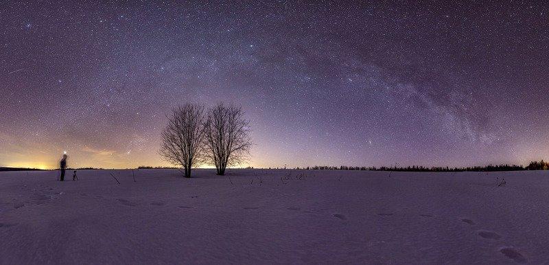 звезды, млечный путь, ночь, астрофото Весеннее небоphoto preview