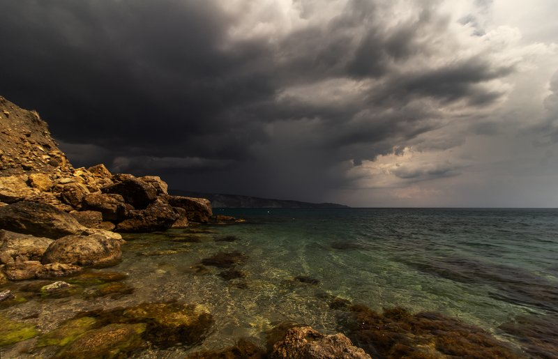 крым, пейзаж, море, черное, гроза, туча, непогода Надвигается....photo preview