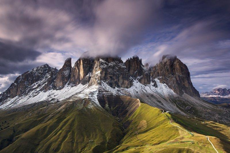 sassolungo,dolomiti,canon,italia,valgardena, SASSO LUNGO - VAL GARDENA - DOLOMITIphoto preview