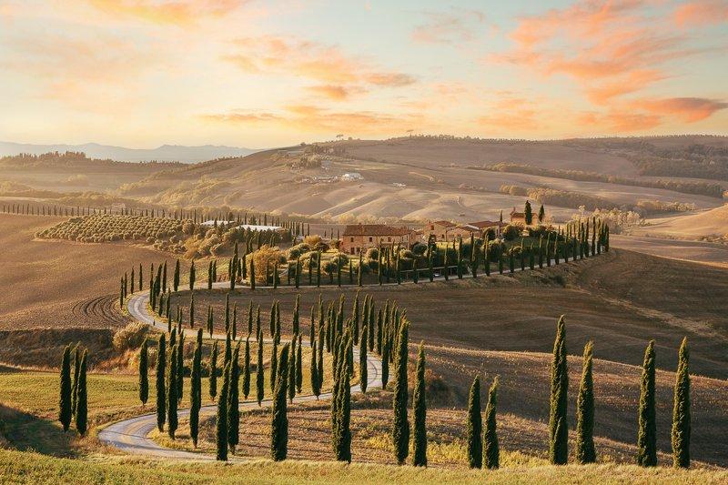 Италия, Тоскана Закат в Тосканеphoto preview