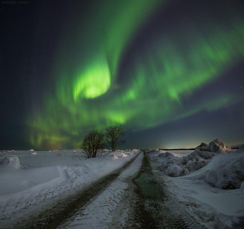 пейзаж,сияние,весна,звезды,апатиты,кольски север Светилоphoto preview