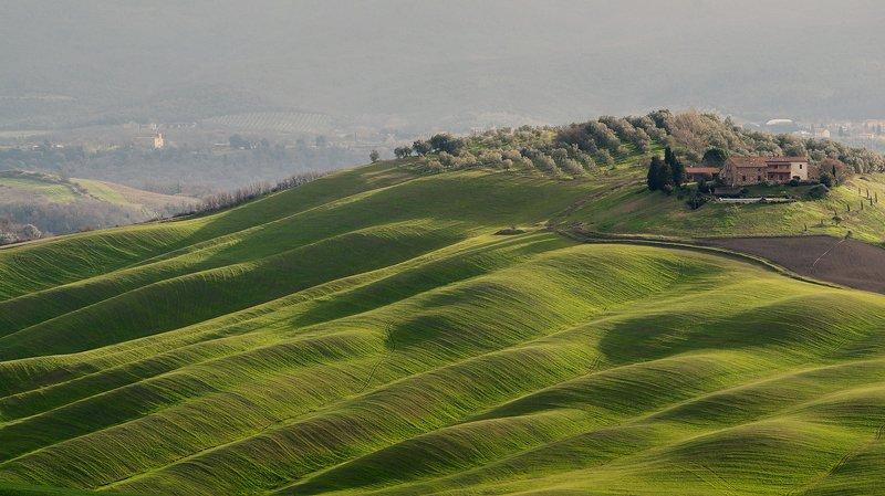 tuscany, тоскана, зеленый холмы тосканы, tuscany photos landscape, весенняя тоскана, пейзажи тосканы, tuscany landscape photography Холмы Тосканыphoto preview