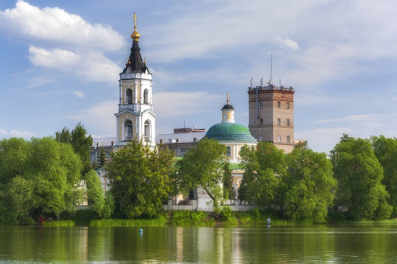 храм,лето,небо,пруд,россия  ***photo preview