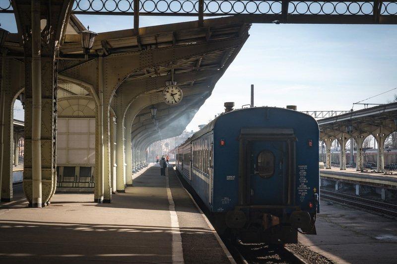 вокзал спб архитектура станция железная дорога дым Витебский вокзал.photo preview