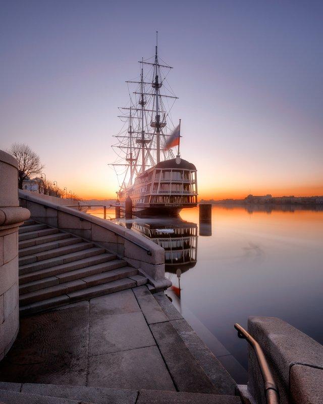Санкт петербург, город, пейзаж Рассветphoto preview