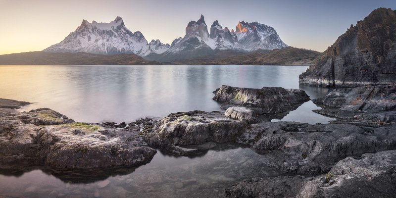 america, andes, basalt, blue, calm, chile, cliff, cuernos, del, dramatic, evening, hiking, history, island, lago, lake, landmark, landscape, light, mountain, national, nature, outdoor, paine, pano, panorama, panoramic, park, patagonia, peak, pehoe, range, A Path to Nowherephoto preview