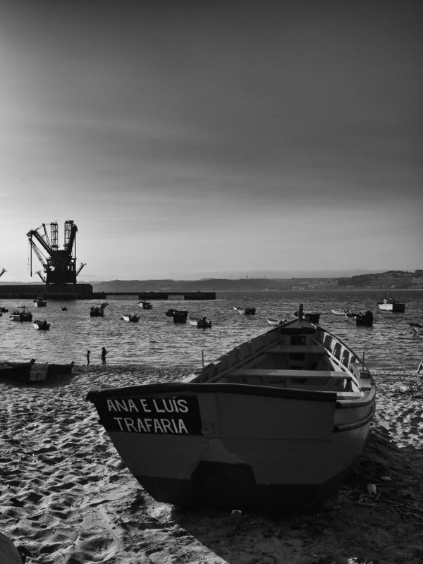 Portugal, Lisbon, Black and white, Monochrome, City, Ocean My boat\'s laid upphoto preview