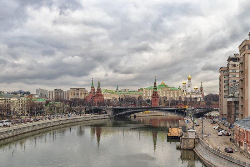 архитектура, город,  весна, кремль, мост Классика жанраphoto preview