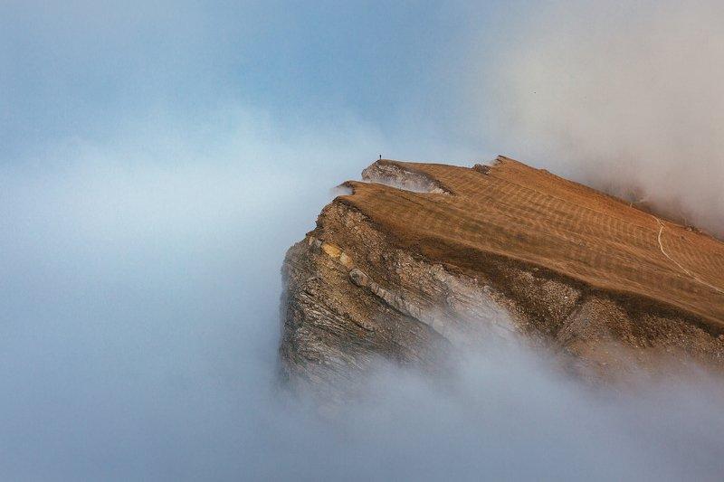 Италия, Доломиты, Сечеда, горы, туман На краю бездныphoto preview