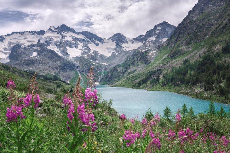 горы, облака, природа, алтай, рассвет, река, путешествие, россия, озеро Озеро Поперечноеphoto preview