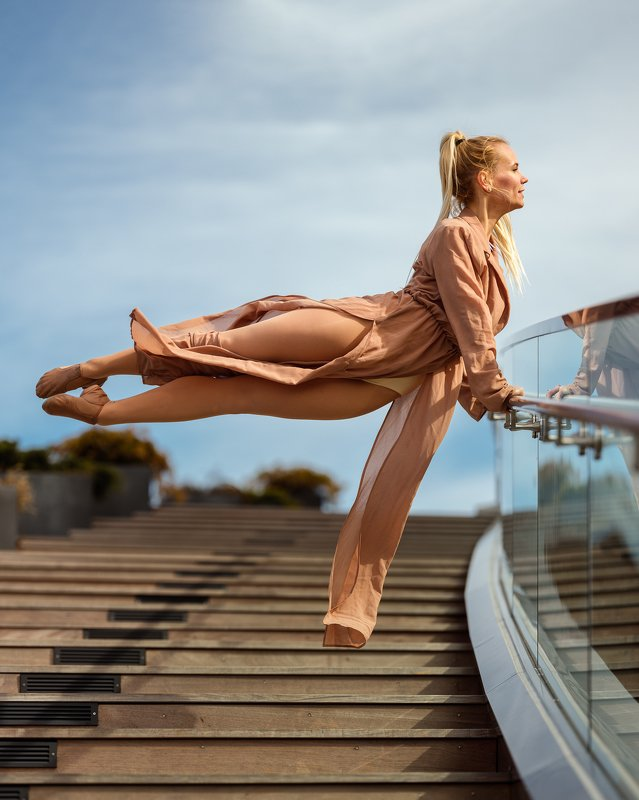dancer, model, female, woman, city, jump Agnieszkaphoto preview