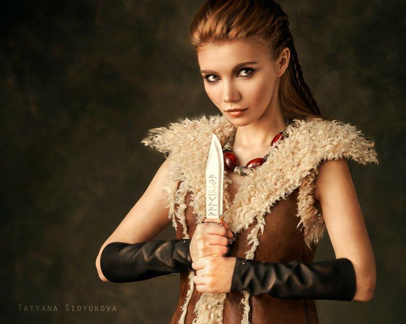 девушка, красивая, рыжая, красивый портрет, портрет, tanyasid, валькирия Валькирия Тоняphoto preview