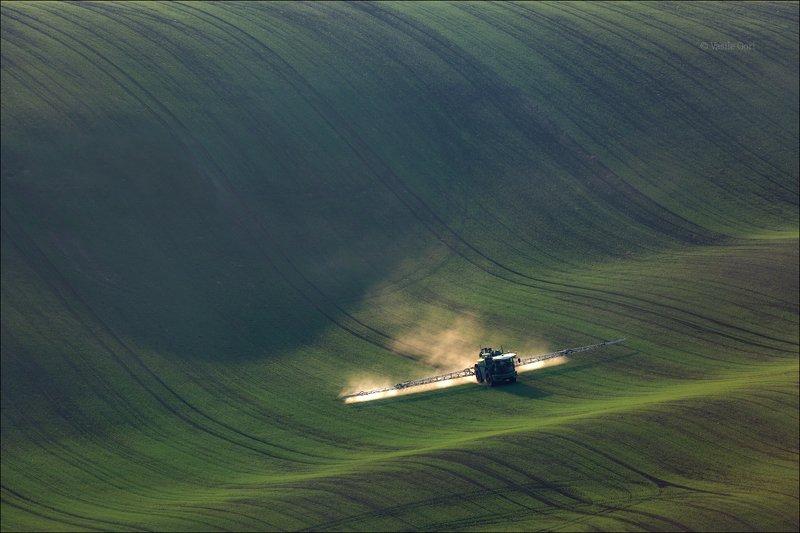 южная моравия,пейзаж,трактор,линии,south moravian,lines,полевые работы,свет,czech,осень,чехия,landscape \