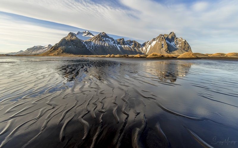 iceland stokksnes vestrahorn black sand Black sand of Stokksnes. Iceland\'19photo preview