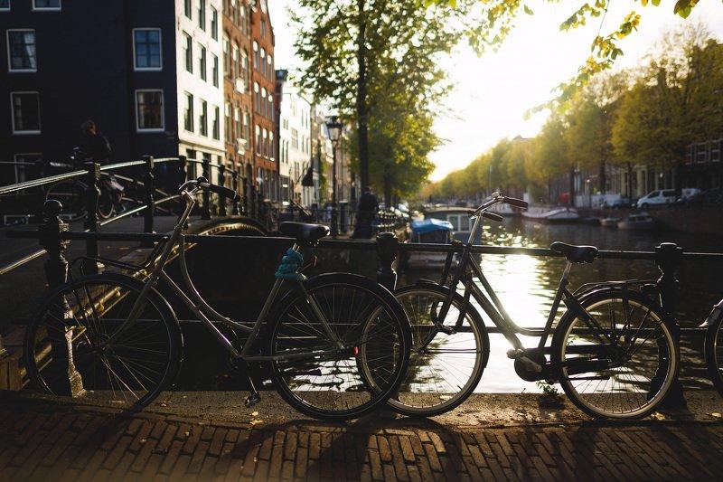 city amsterdam netherland sunset город амстердам  архитектура путешествие travel cycle велосипед закат Amsterdam.photo preview