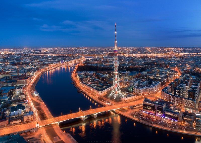 Питер, дрон, пейзаж Кантемировский мостphoto preview
