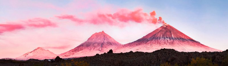 камчатка, вулкан, ключевской, камень, рассвет Из серии \