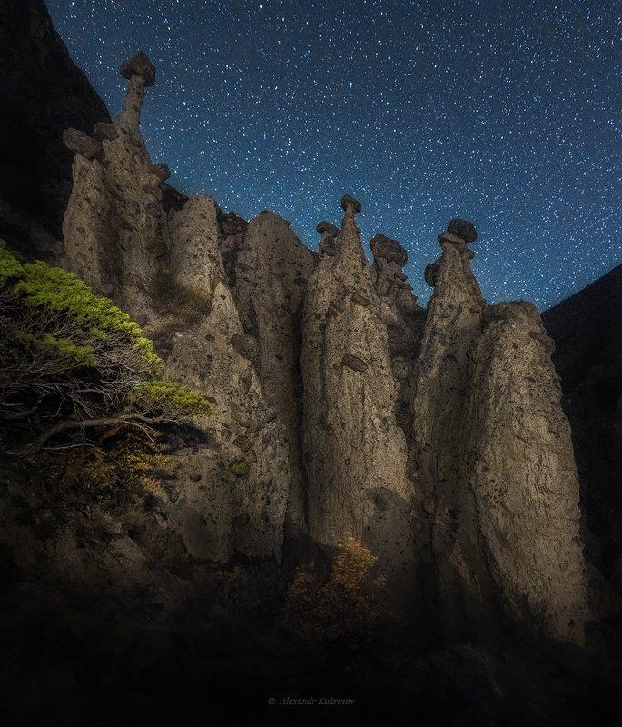 пейзаж, ночь, алтай, ак-курум Ночные стражи Ак-Курума...photo preview