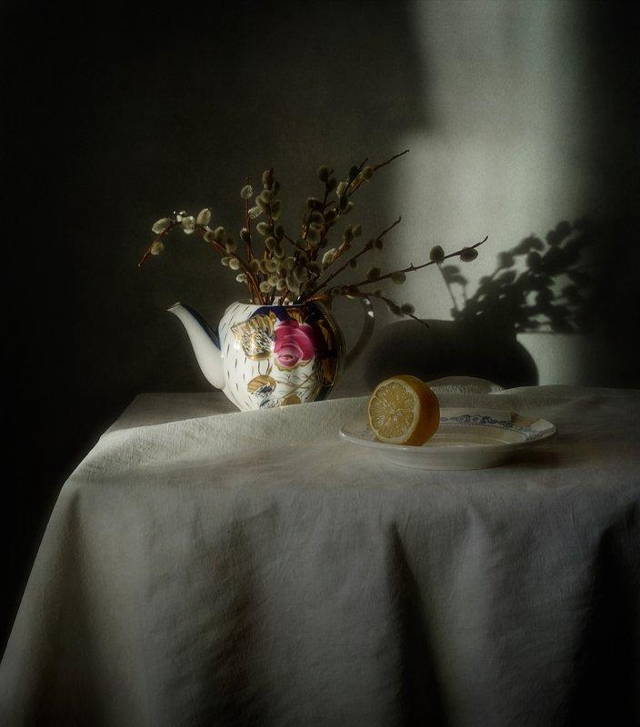 натюрморт,весна,верба,тень ...photo preview