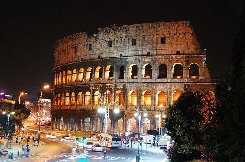 рим, италия, колизей, ватикан, собор святого петра, форум Ночной Римphoto preview