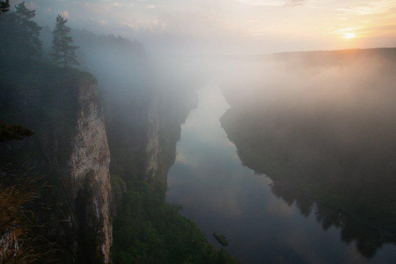 урал, айскиепритесы, лето, рекаай, утро, рассвет Раннее утро на реке Ай фото превью