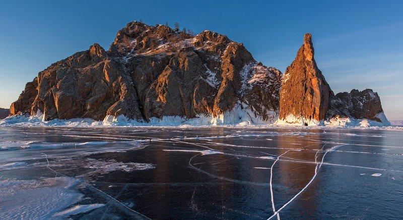 хобой байкал ольхон зима лёд Утро Хобояphoto preview