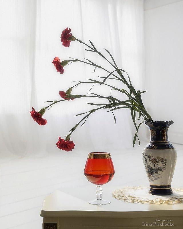 натюрморт, цветы, интерьер, букет, гвоздики Пьяные гвоздикиphoto preview
