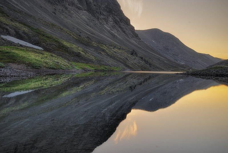 Хибины, Кольский полуостров, Отражение, закат Параллельные мирыphoto preview