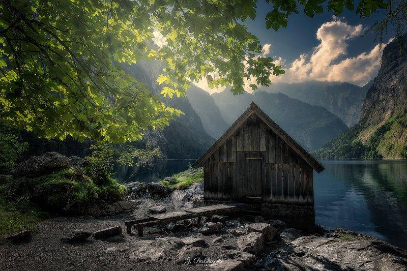 bavaria, germany, lake, hut,mountain hut, perlikowski Bavarian dreamphoto preview