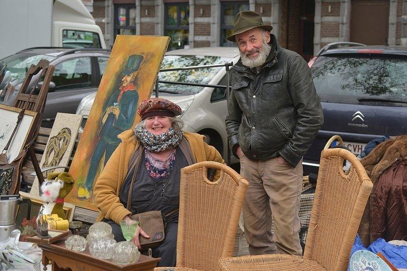 The flea market of Outremeuse(Liège,Belgium).photo preview