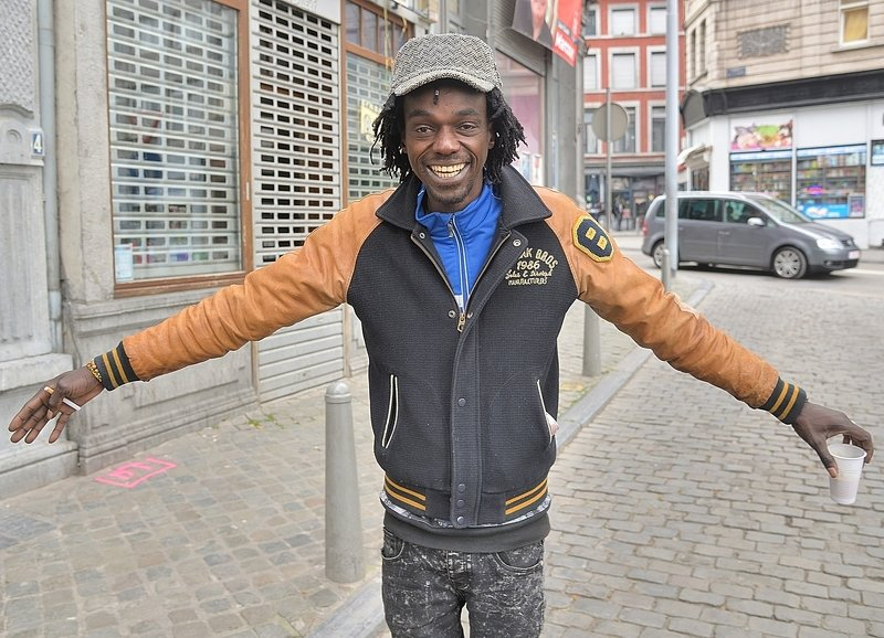 People of the African district in Liège(Belgium).photo preview