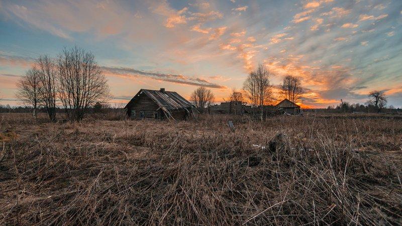великий двор,вологодчина,кема,север, Апрельское утро.photo preview