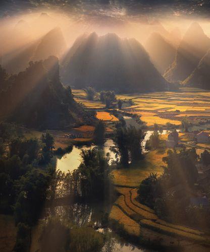 Террасы, горы и свет  Вьетнама