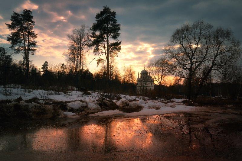 лес, природа, пейзаж, весна, река, вода, ручей, подмосковье Весенние разливыphoto preview