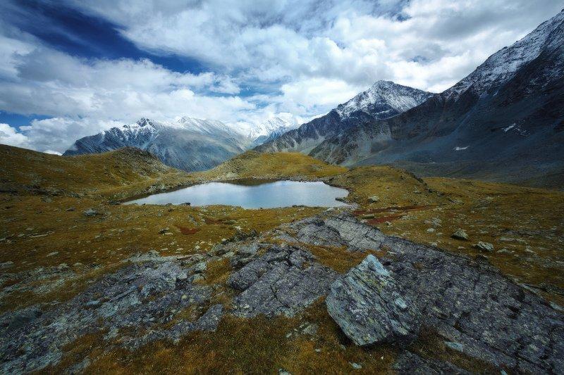 горы, облака, природа, алтай, рассвет, река, путешествие, россия, озеро Минутное спокойствиеphoto preview