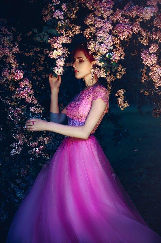 woman, beauty, fashion, art, outdoors The magic gardenphoto preview