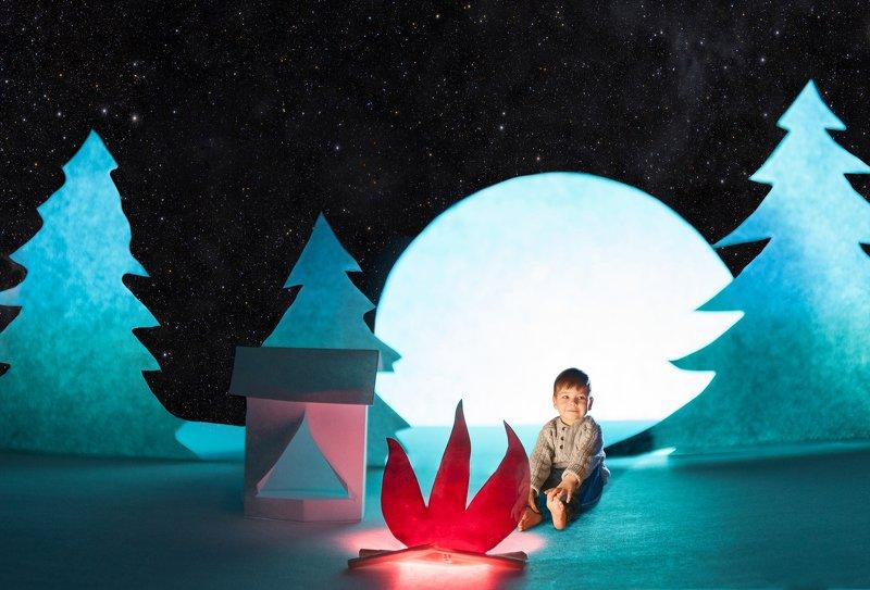 ночь, портрет, поход, луна, portrait, nikon, night, hiking, strobe light, бумага, звезды, палатка Лунная ночьphoto preview