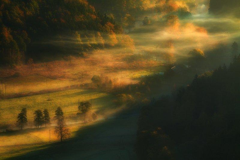 landscape,canon,mist,light,autumn The Dawn Mist Glowing....photo preview