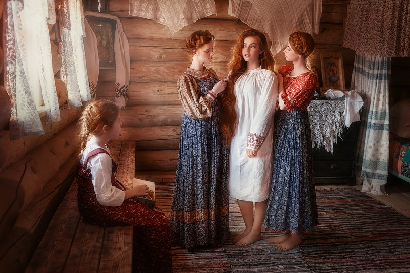 девушки, свадьба, русский стиль Свадьба на Русиphoto preview
