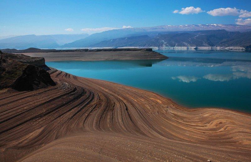 водохранилище,вода,река.чиркей,дагестан. Чиркейское водохранилище.. фото превью