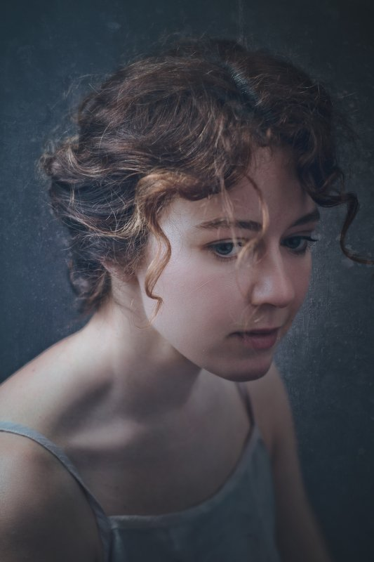 female, portrait, mood, dramatic, woman, dark, adult, face, people, one, person, picture, sadness, sorrow, grief, mourning, affliction, rue Sadnessphoto preview