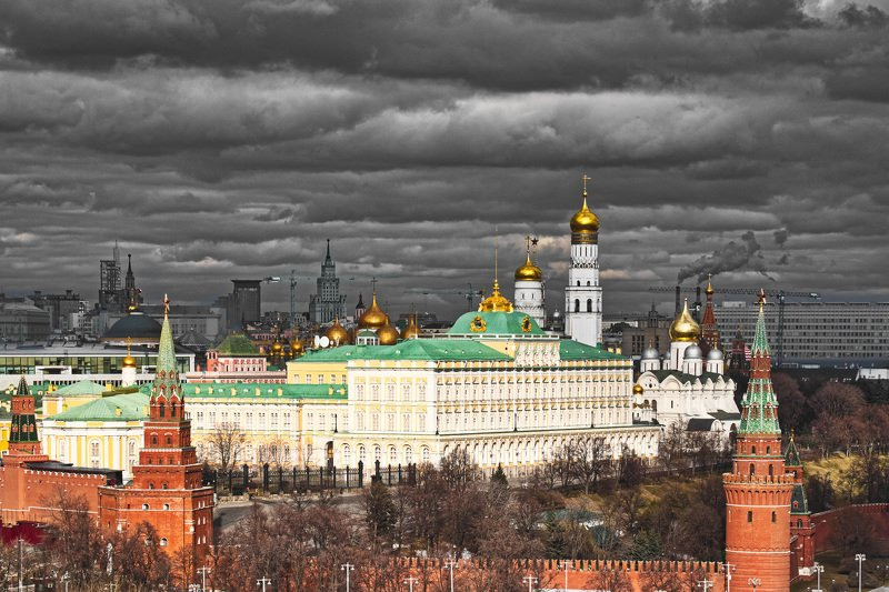 архитектура, город,  весна, высотки, пейзаж, кремль Москва весенняяphoto preview