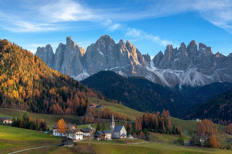 italy, southtirol, valdifunes, dolomites, Val di Funesphoto preview