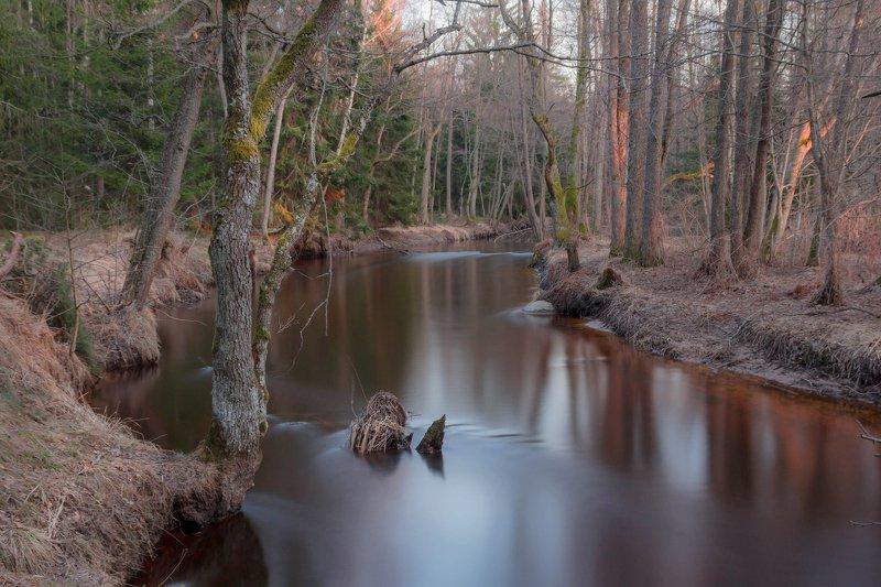 выдержка, река, весна ,север Весенний светphoto preview
