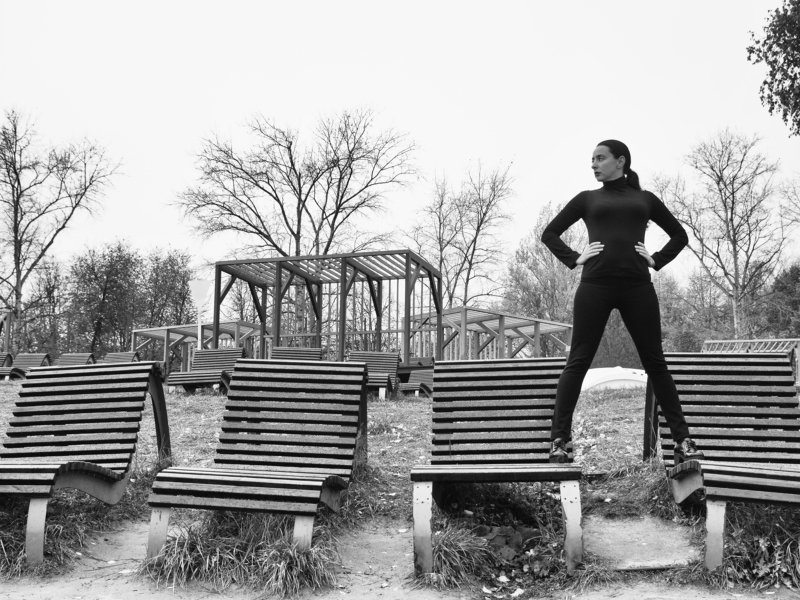 Black and white, Monochrome, Beach, City, Offseason, Moscow, Russia The offseasonphoto preview